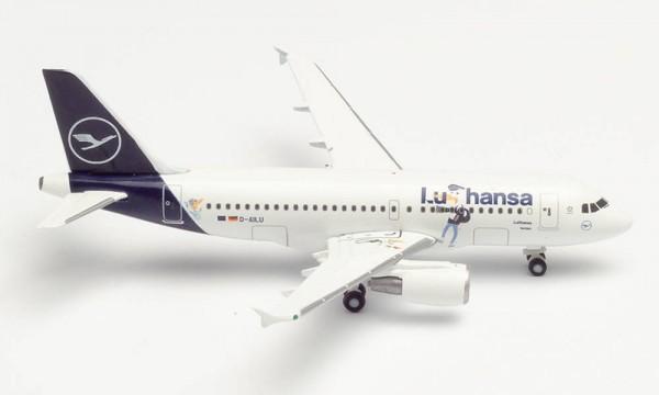 """HERPA 534451 LUFTHANSA AIRBUS A319 """"LU"""" – D-AILU """"VERDEN"""""""