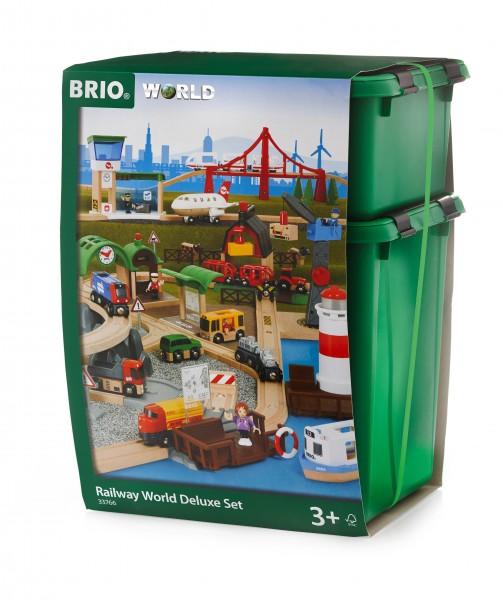 BRIO 33766 Großes BRIO Premium Set in Kunststoffboxen