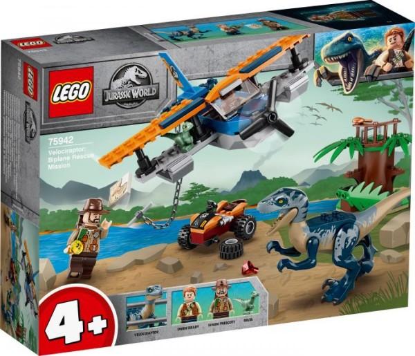 LEGO® Jurassic World# 75942 Velociraptor: Rettungsmission mit dem Doppeldecker