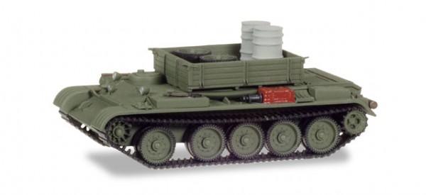 HERPA 745895 Werkstattpanzer T-54 mit Ladung Fässer / Laufwerke