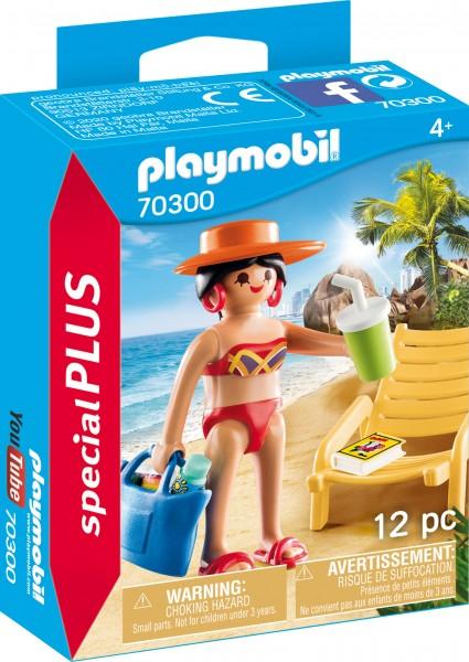 PLAYMOBIL® 70300 Urlauberin mit Liegestuhl
