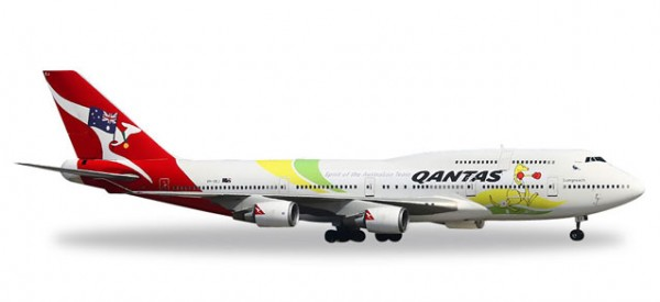 "HERPA 529914 Qantas Boeing 747-400 ""Spirit of the Australian Team - Rio 2016"""