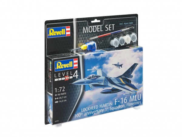 "REVELL 63905 Model Set F-16 Mlu100th Anniversary"""
