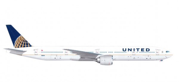 HERPA 529877 United Airlines Boeing 777-300ER