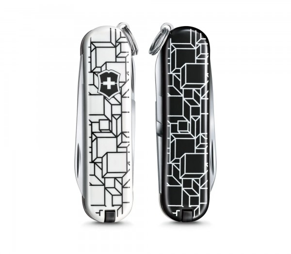 VICTORINOX 0.6223.L2105 Classic SD, 58 mm Limited Edition 2021, Cubic Illusion Flight , Faltschachte
