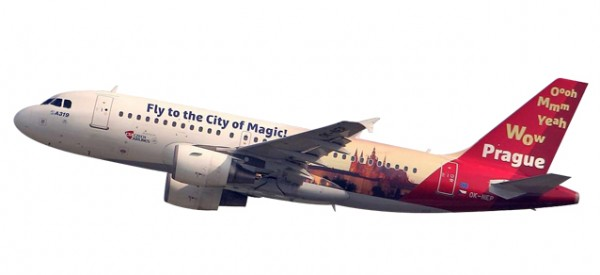 "HERPA 611138 CSA Czech Airlines Airbus A319 ""Prague - City of Magic"""
