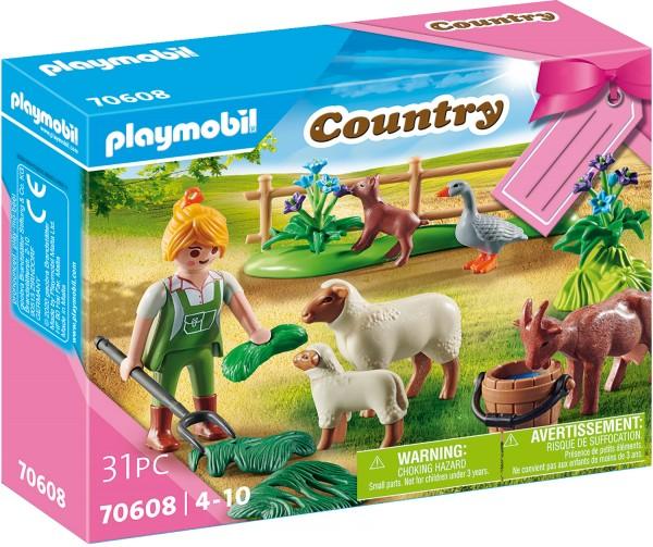 "PLAYMOBIL® 70608 Geschenkset ""Bäuerin mit Weidetieren"""