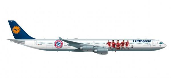 "HERPA 558242 Lufthansa Airbus A340-600 ""FC Bayern Audi Summer Tour USA 2016"""