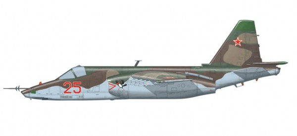 "HERPA 82MLCZ7204 Soviet Air Force Sukhoi SU-25 ""Frogfoot"" - 368th OShAP, Tutow Air Base, Germany, 1"