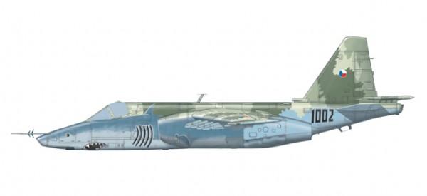 "HERPA 82MLCZ7205 Czech Air Force Sukhoi SU-25K ""Frogfoot"" − 32nd zTL, Pardubice, Czech Republ"