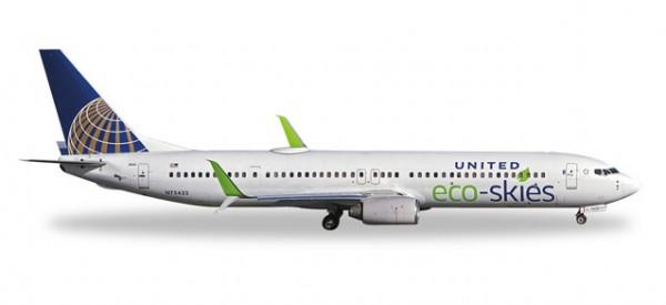 """HERPA 529273 United Airlines Boeing 737-900 """"Eco-Skies"""""""