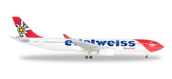 Herpa 528870 Edelweiss Air Airbus A330-300 new 2016 colors