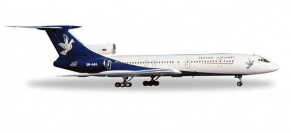 HERPA 558143 Slovak Airlines Tupolev TU-154M