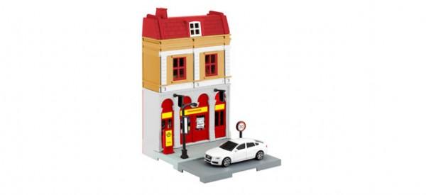 Herpa City: Feuerwehr-Gebäude mit Einsatzleitfahrzeug 800075