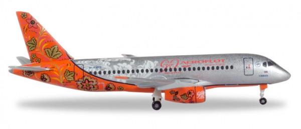 "HERPA 531160 Aeroflot Sukhoi Superjet SSJ-100 ""90th Anniversary"" - RA-89009"