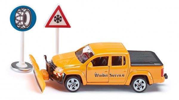 SIKU 2546 VW Amarok Winterdienst