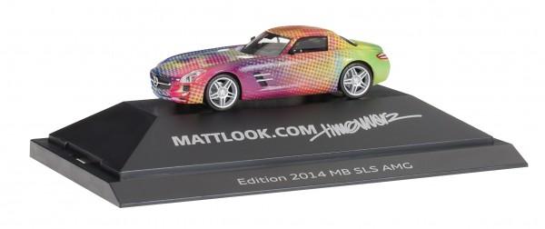 "HERPA 101929 Mercedes-Benz SLS AMG ""mattlook.com Edition 2"""