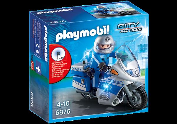 PLAYMOBIL® 6876 Motorradstreife mit LED-Blinklicht