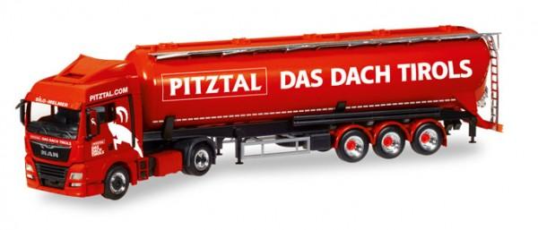 """HERPA 308502 MAN TGX XLX Euro 6c Silo-Sattelzug """"Melmer Pitztal, Das Dach Tirols"""" (A)"""