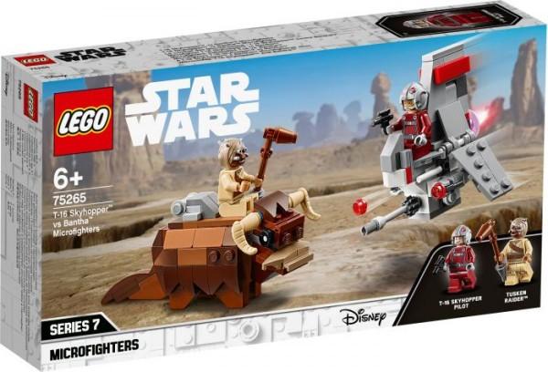 LEGO® Star Wars# 75265 T-16 Skyhopper# vs Bantha# Microfighters