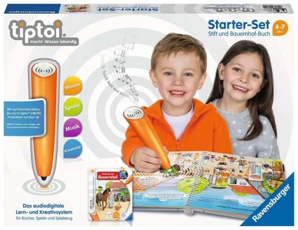 RAVENSBURGER 00804 Starter Set Stift und Bauernhof-Buch - Lernsystem für Kinder ab 4 Jahren