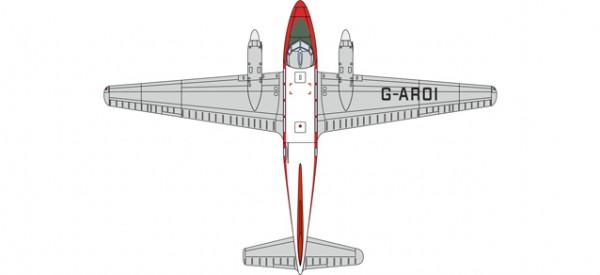 HERPA 8172DV004 DH104 Dove G-AROI British Eagle