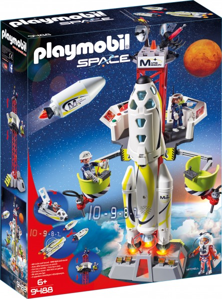 PLAYMOBIL® 9488 Mars Rakete mit Startrampe