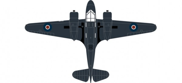 HERPA 8172AO002 Airspeed Oxford PH 185 778 Sqn.Fleet Air Arm
