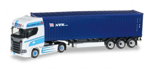 """HERPA 306942 Scania CS 20 HD Container-Sattelzug """"Wiek Transporte Hamburg / NYK"""""""