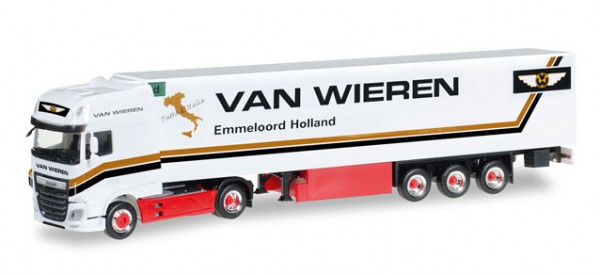 "HERPA 306256 DAF XF SSC Euro 6 Kühlkoffer-Sattelzug ""Van Wieren"" (NL)"