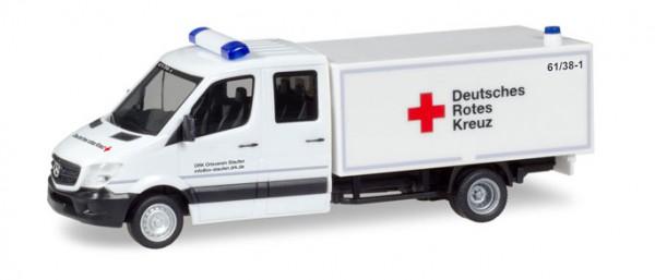 """HERPA 093651 Mercedes-Benz Sprinter Doppel-Kabine mit Koffer """"DRK Staufen"""""""