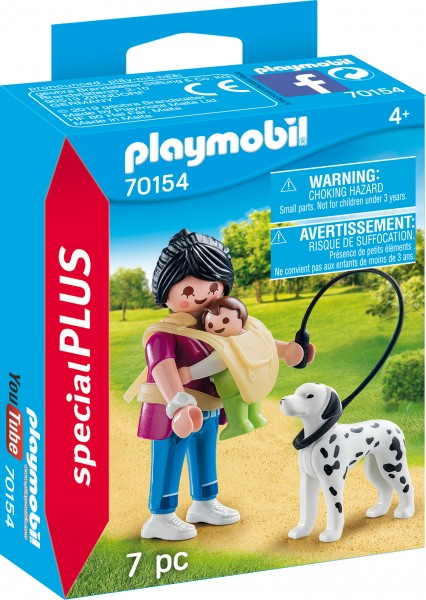 PLAYMOBIL® 70154 Mama mit Baby und Hund