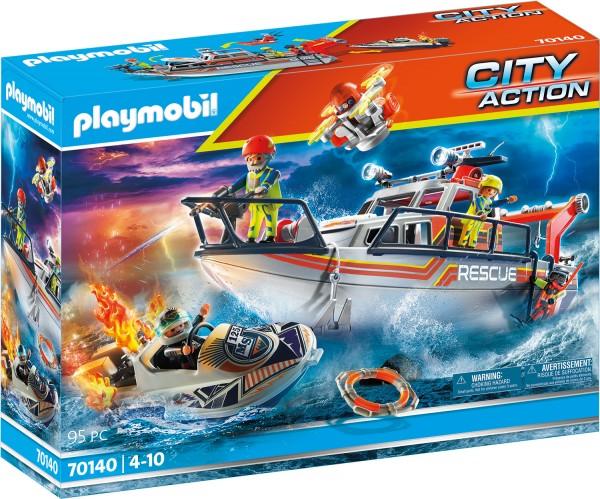 PLAYMOBIL® 70140 Seenot: Löscheinsatz mit Rettungskreuzer
