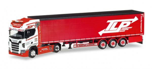 """HERPA 307680 Scania CS 20 HD Gardinenplanen-Sattelzug """"TLP"""" (A)"""