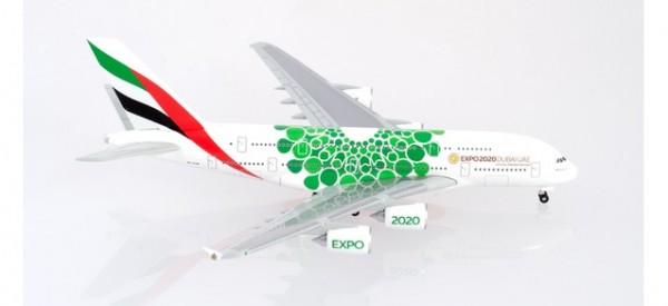 "HERPA 533522 Emirates Airbus A380 Expo 2020 Dubai, ""Sustainability"" livery"