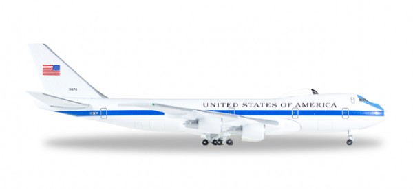 "HERPA 529266 U.S. Air Force Boeing E-4B ""Nightwatch"" Advanced Airborne Command Post - 55th Wing, 1s"
