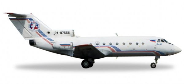 "HERPA 558235 Vologda Air Company Yakovlev Yak-40 ""Ded Moroz"""
