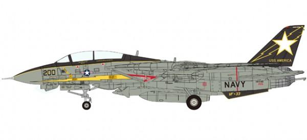 "HERPA 558891 U.S. Navy Grumman F-14A Tomcat - VF-33 ""Starfighters"", U.S.S. America - Gulf of Sidra"