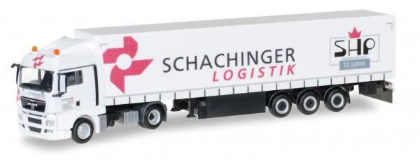 "HERPA 924849 MAN TGX XLX Gardinenplanen-Sattelzug ""Schachinger"""