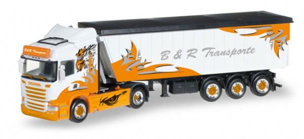 "HERPA 306287 Scania R HL Stöffelliner-Sattelzug ""B&R Transporte / Arrow Hunter"""