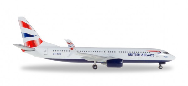 HERPA 530408 British Airways (Comair) Boeing 737-800 - ZS-ZWG