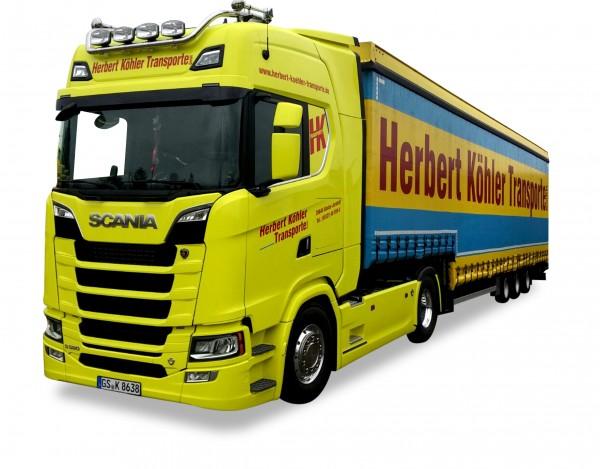 """HERPA 927772 Scania CS20 HD Meusburger Sattelzug 2a / 3a """"Herbert Köhler Transporte"""""""