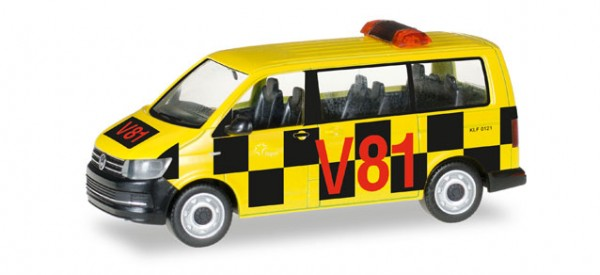 "HERPA 092821 VW T6 Bus ""Follow Me Flughafen Frankfurt"""