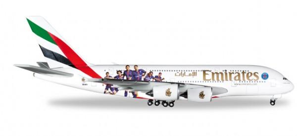 "HERPA 529440 Emirates Airbus A380 ""Paris St. Germain"""