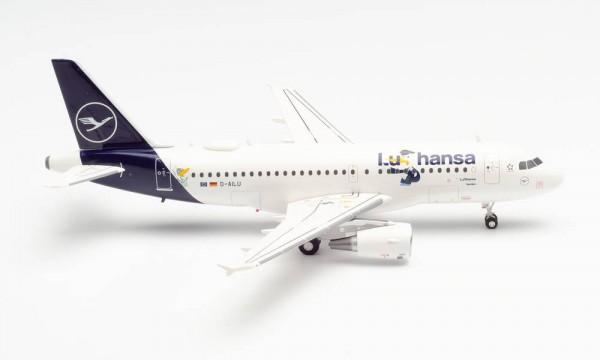 """HERPA 57985 LUFTHANSA AIRBUS A319 """"LU"""" – D-AILU """"VERDEN"""""""