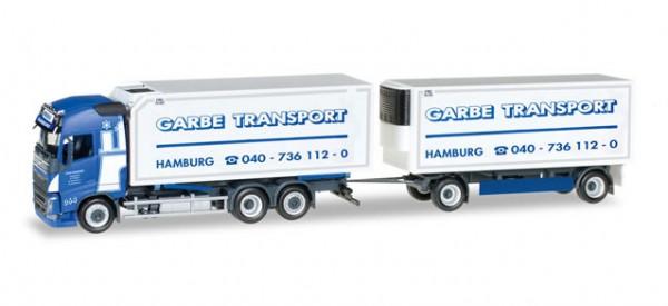 """HERPA 306997 Volvo FH Gl. Wechselkühlkoffer-Hängerzug """"Spedition Garbe"""""""