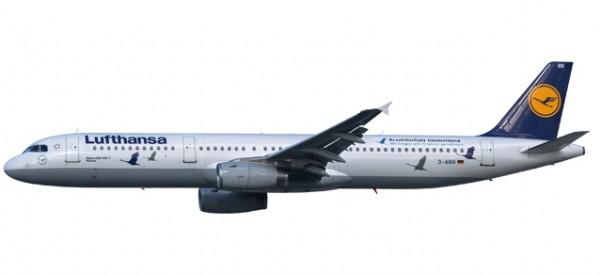 """HERPA 611497 Lufthansa Airbus A321 """"25 Jahre Kranichschutz"""" - D-AIRR """"Wismar"""""""
