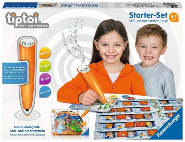 RAVENSBURGER 00802 Starter Set Stift und Buchstaben-Spiel - Lernsystem für Kinder ab 4 Jahren