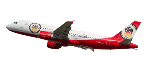 "HERPA 611213 airberlin Airbus A320 ""Fan Force One"""