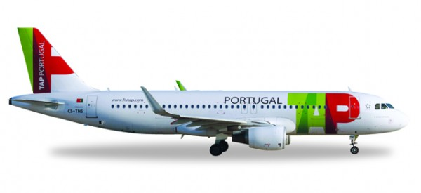 "HERPA 558747 TAP Portugal Airbus A320 - CS-TNS ""D. Afonso Henriques"""